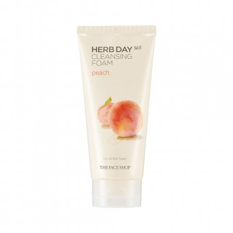 Herb Day 365 Cleansing Foam Peach